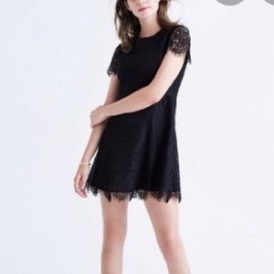 Madewell Black Lace Dress